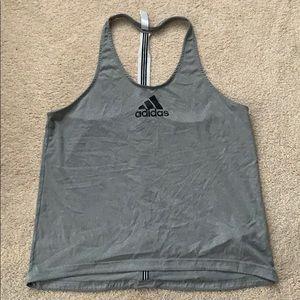 Grey adidas tank top